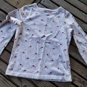 Sonoma Girls 6 long sleeve heart print shirt